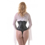 Vixen Black Leather W/cincher  Corset**